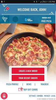 Domino's Pizza USA - screenshot