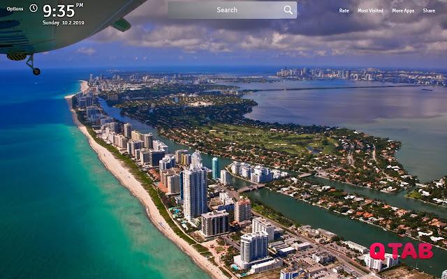 Miami Wallpapers Theme Miami New Tab