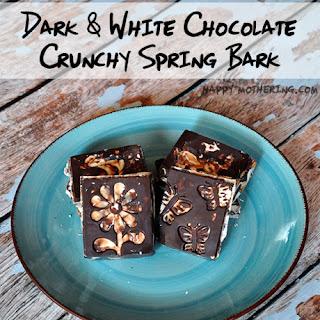 Swirled Dark & White Chocolate Crunchy Spring Bark
