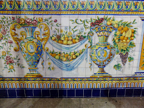 Photo: The entire place is decorated with Spanish tiles, reminiscent of the Italian tiles at Vietri sul Mar
