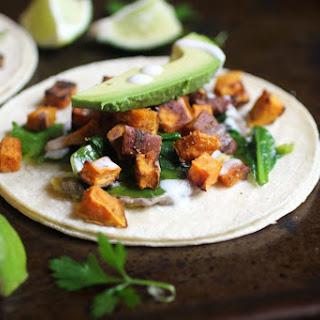 Sweet Potato, Black Bean Hummus & Vegan Plantain Tacos