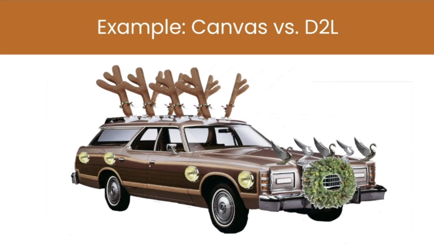 Canvas vs D2L: An example of how a giant's strengths have been used against them.
