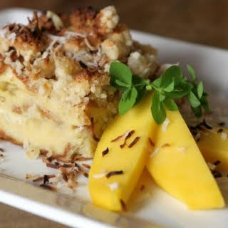 Coconut Pineapple Bread Pudding.