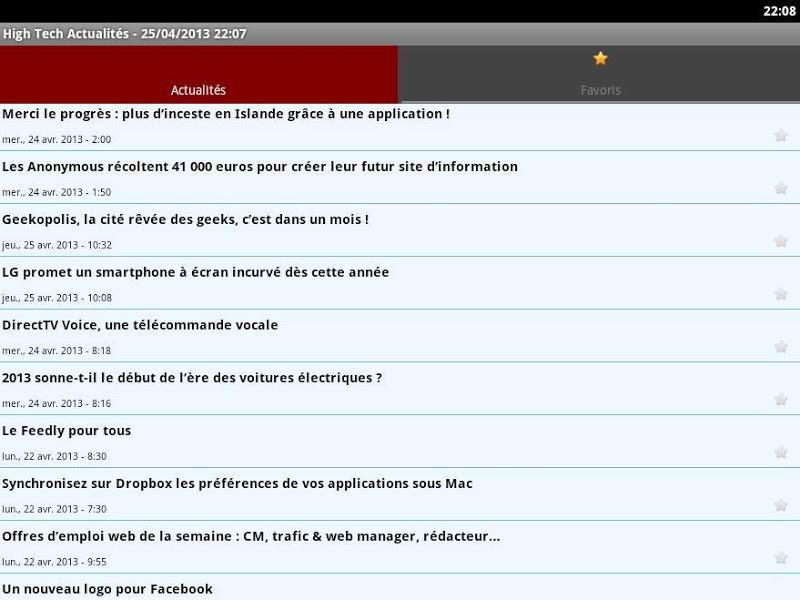 Скриншот High Tech Actualités