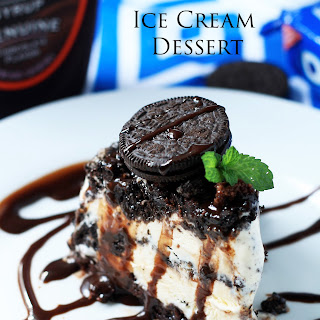 Oreo and Brownie Ice Cream Dessert.
