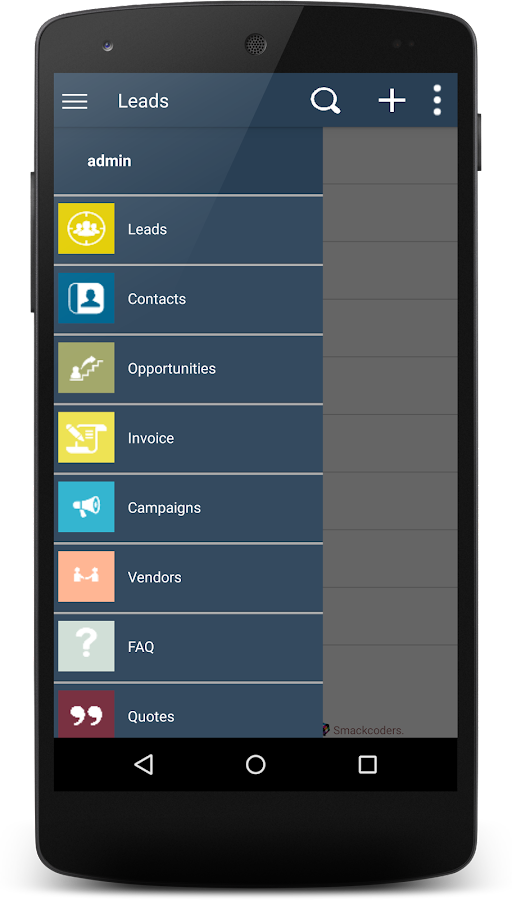 PocketCRM for Vtiger- screenshot