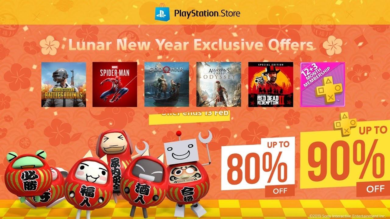 Diskon Imlek Playstation Store sampai 80% (90% untuk pengguna PS Plus)