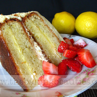 Gluten Free Layered Lemon Cake with Lemon Whipped Cream Frosting