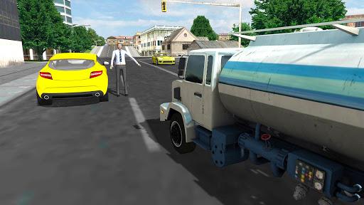 Modern City Gas Station 3D Pickup Truck Refueling  screenshots 4