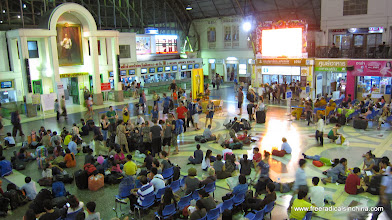 Photo: Bangkok train station before our overnight bus north to Chiang Mai