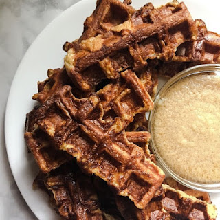 French Texas Toast Waffle Sticks with Butter Maple Sauce.