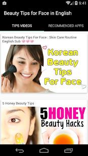 Beauty Tips For Face English Screenshot Thumbnail