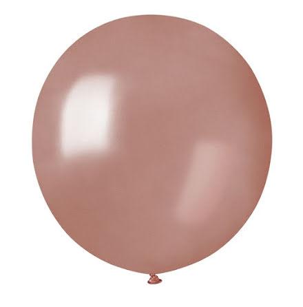 Ballonger helrunda 48 cm, roséguld