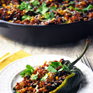 Quinoa Stuffed Poblano Peppers