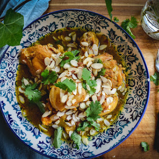 Chicken Tagine With Lemon, Dates And Apricots.