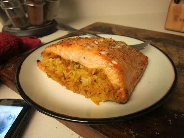 Rice Stuffed Salmon