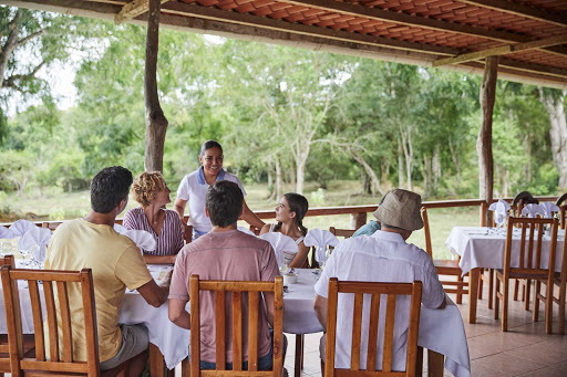 Stop for lunch at the Ranch Restaurant on the island of Santa Cruz in the Galapagos.