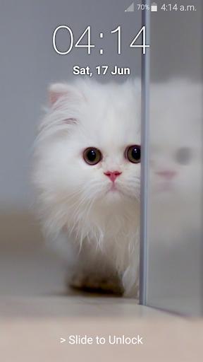 Kitty Cat Pin Lock Screen 6.2 screenshots 13