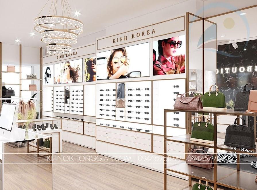 trang trí cửa hàng thời trang túi xách