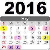 Calendar 2016 Malaysia