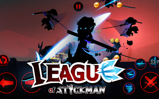 Combat gay cấn tại League of Stickman Free - Shadow legends