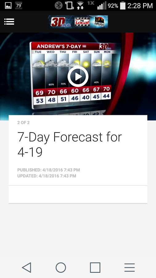 WFFT Local Weather- screenshot