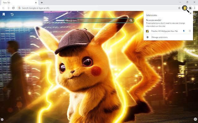 Pikachu HD Wallpapers New Tab