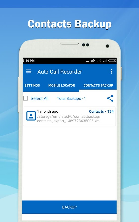 Auto Call Recorder 2017- screenshot