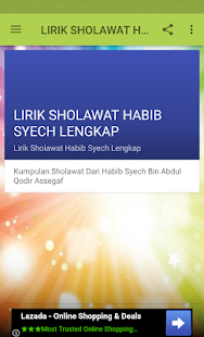 Download Lirik Sholawat Habib Syech Lengkap Apk 1 0 Lirik Sholawat