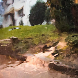 Impressionist Flash Flood by Mary Phelps - Instagram & Mobile iPhone ( rain, nashville, windshield, iphone, flood )