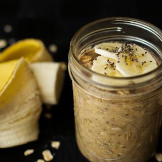 Peanut Butter Banana Overnight Oats {Vegan, Gluten Free}.