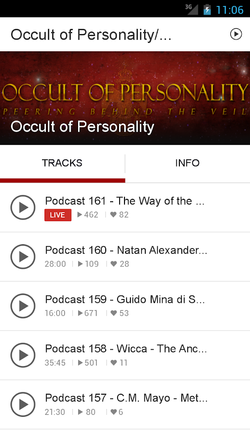 Occult of Personality/Spreaker- screenshot