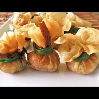 Shrimp Filled Wonton Pouches/Bags.