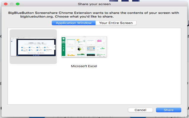Lernant Screenshare Extension