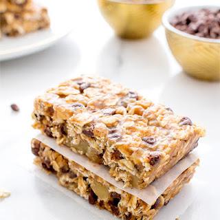 No Bake Chewy Chocolate Chip Granola Bars (Vegan, Gluten Free)
