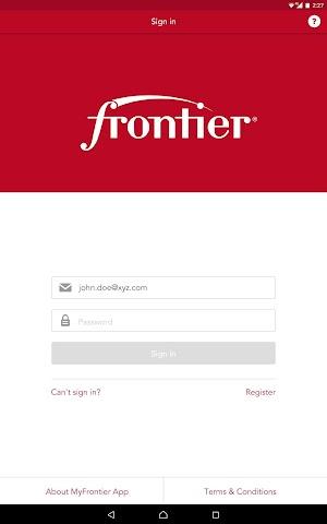 8 MyFrontier App screenshot