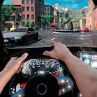 Driving simulator drive in car