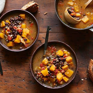 Black Bean and Butternut Squash Soup.