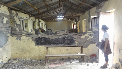 Photo: What used to be the classrooms of Chilaune Secondary School