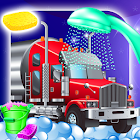 Truck wash and repair icon