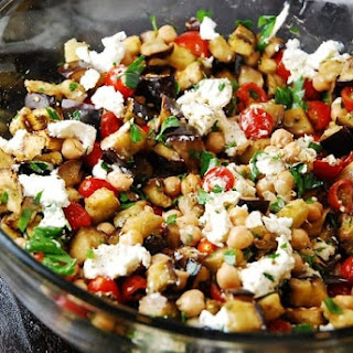 Roasted Eggplant Salad with Goat Cheese Recipe