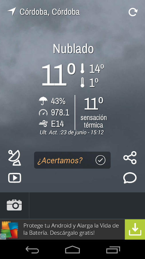 Infoclima- screenshot