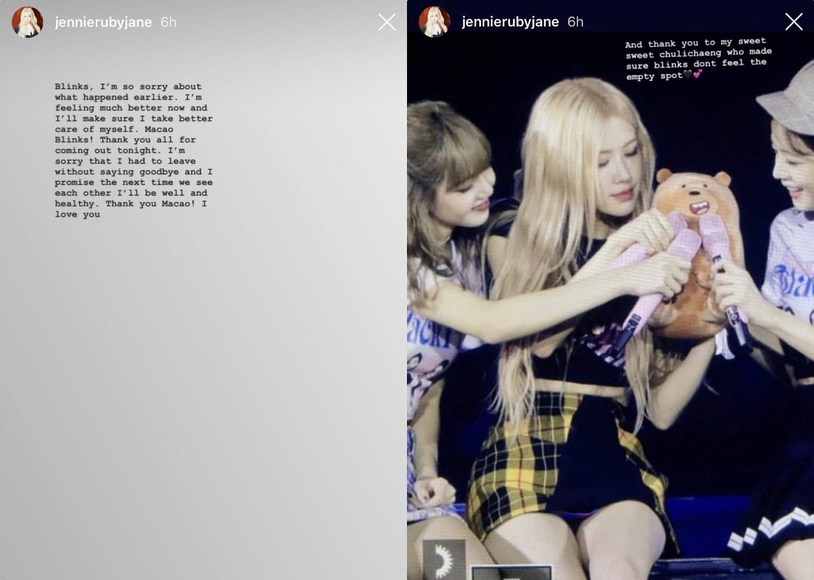 blackpink_jennie_sick story_
