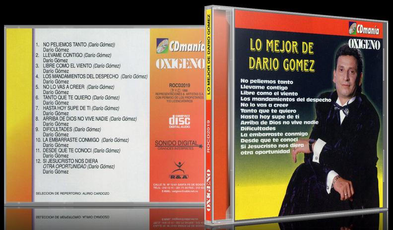Darío Gómez - Lo Mejor De Darío Gómez (1999) [MP3 @320 Kbps]