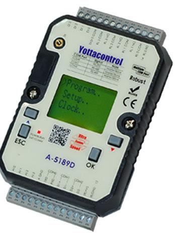 PLC med 2DI 2AI 2PT-100 2DO 2AO TRANSISTOR, LCD displ, 10-30