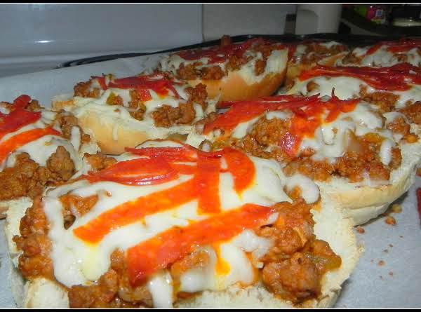 Italian Pizza Burgers Recipe