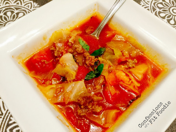 21 Day Fix Unstuffed Cabbage Roll Soup Recipe