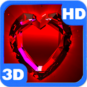 Red Shaped Magic Diamond Heart 3D