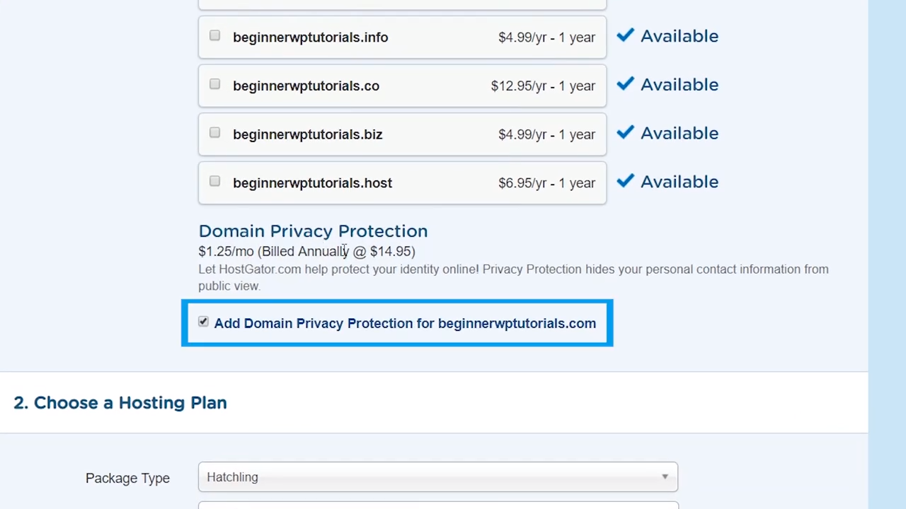 getting started with wordpress domain privacy