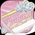 Luxury Pink Silk & Diamonds Keyboard icon